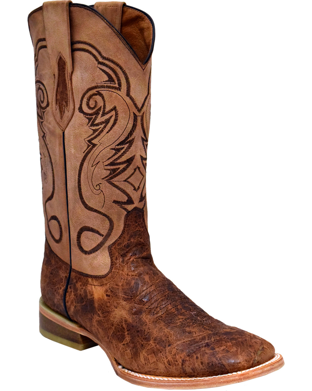 Men's Argentinian Bullhide ACERO Cowboy Boot Square Toe Chocolate 13 D(M) US
