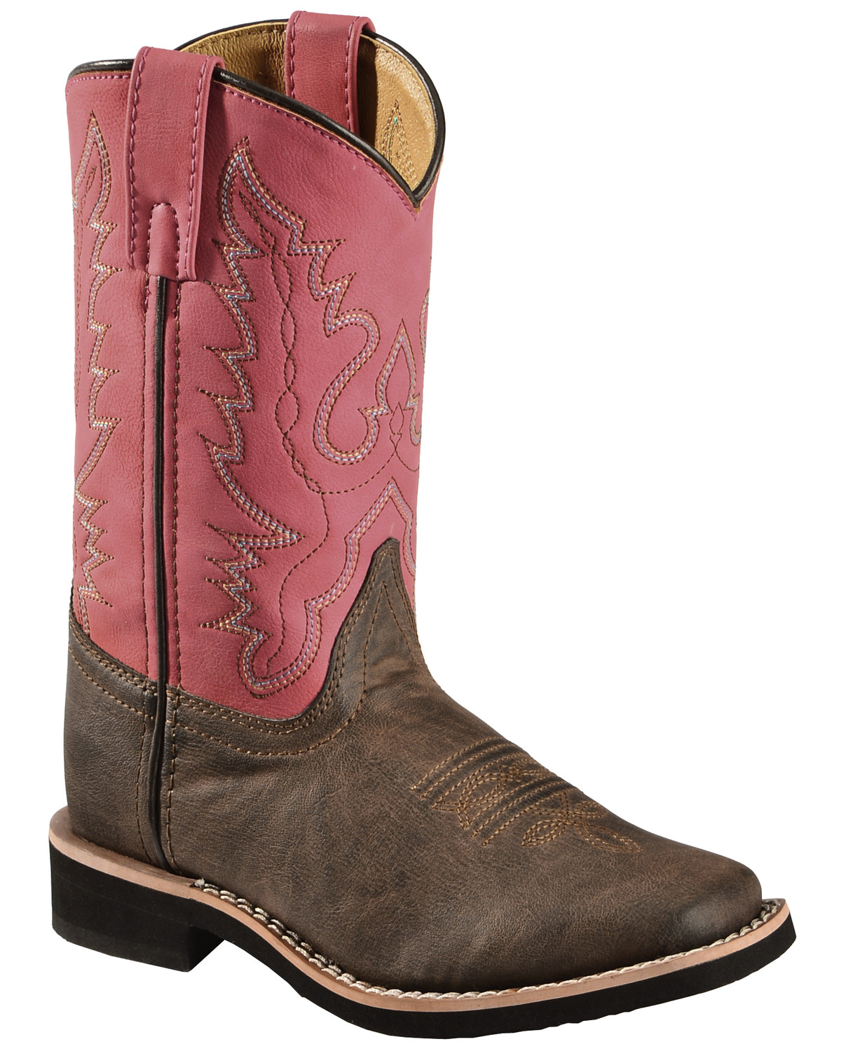 Swift Creek Girls Chocolate And Raspberry Cowgirl Boots