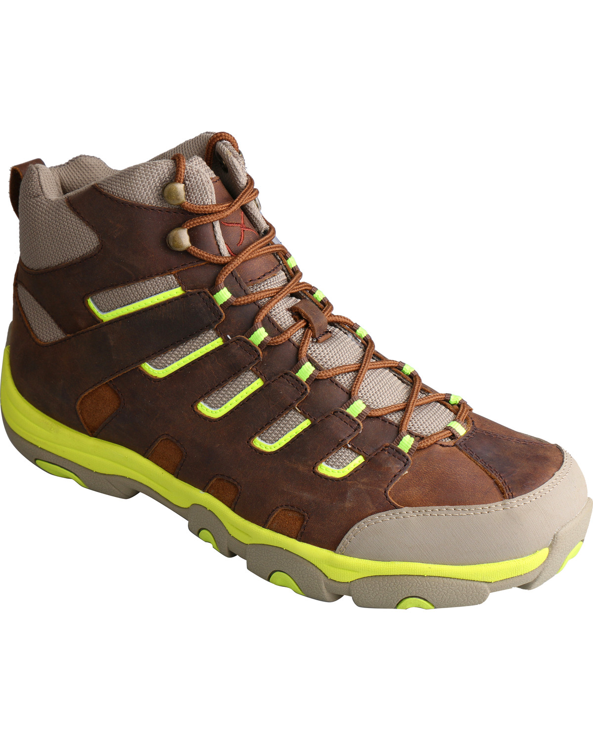 Twisted X Men S Hiker Brown And Neon Lace Up Boots Boot Barn