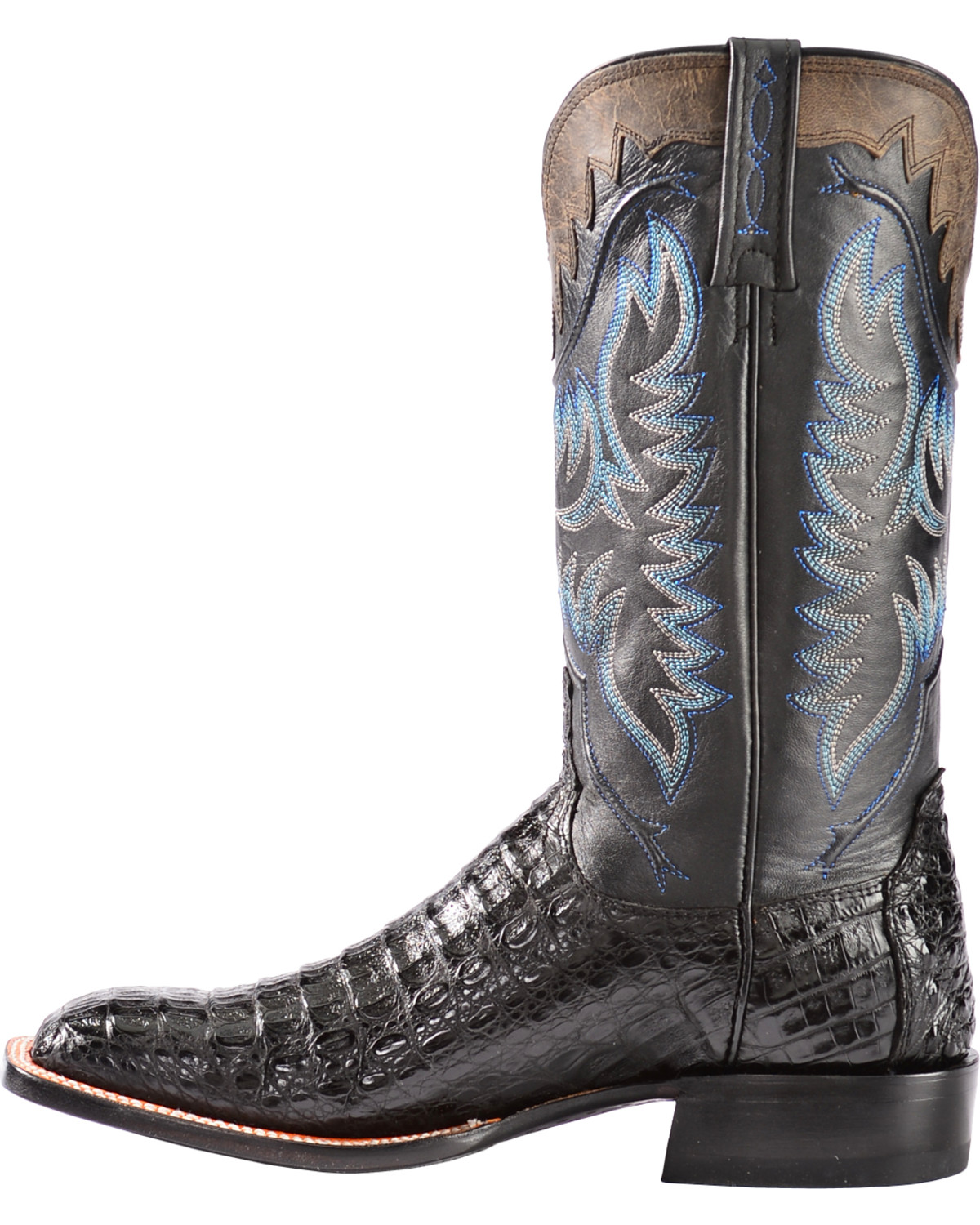 Lucchese Men S Rhys Hornback Caiman Exotic Western Boots