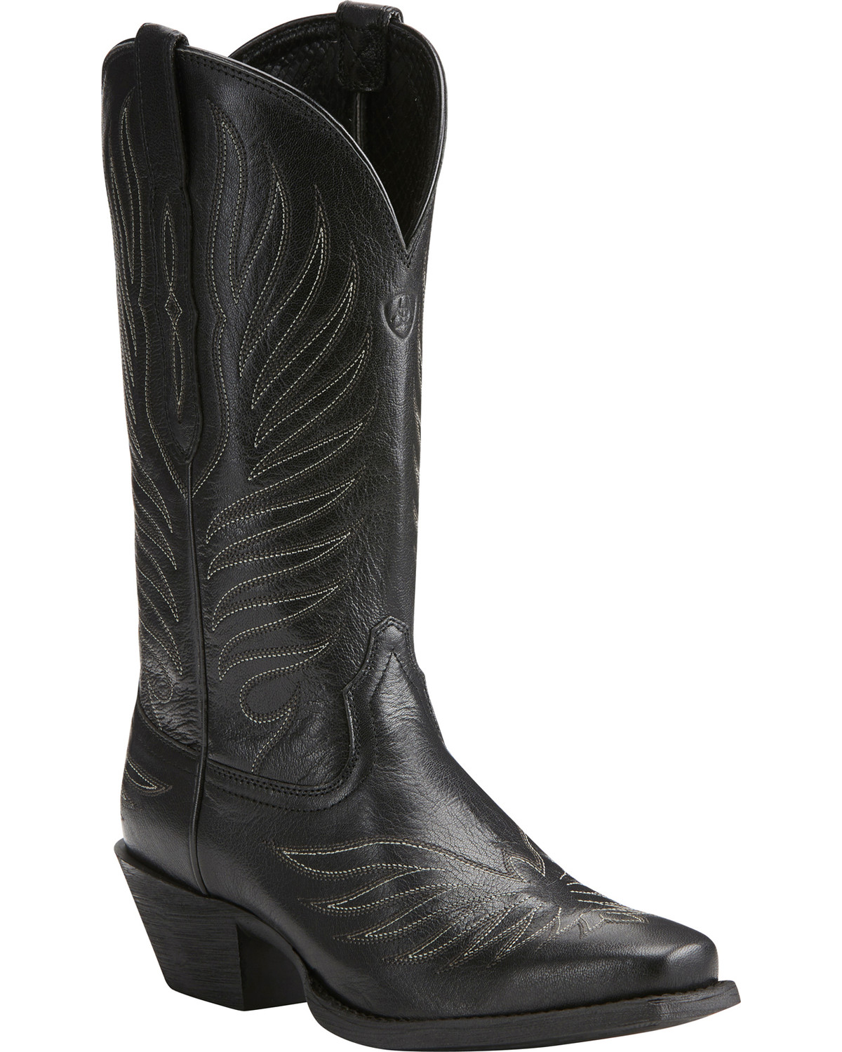 ariat s black up boots square toe