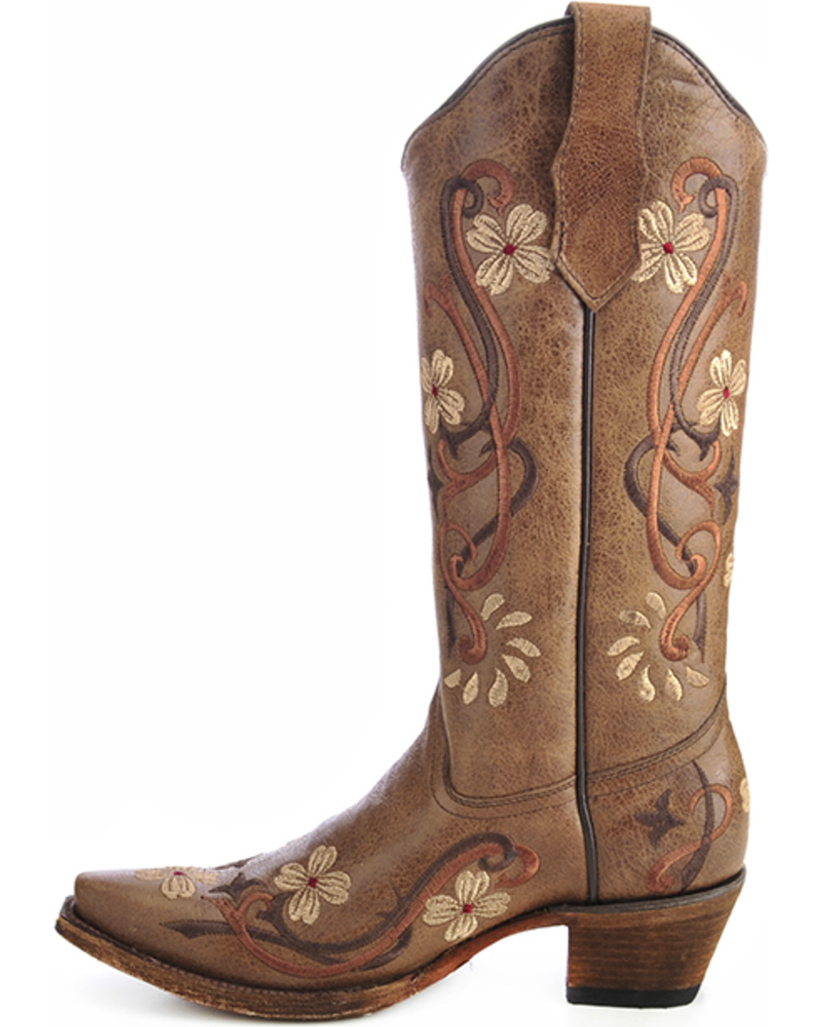 Circle g women 39 s floral embroidered western boots boot barn for International decor outlet darien georgia