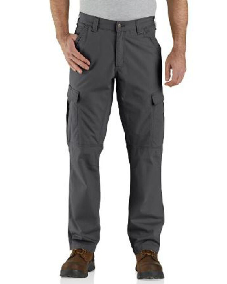 Carhartt Men's Dark Khaki M-Force Broxton Cargo Work Pants , Grey, hi-res