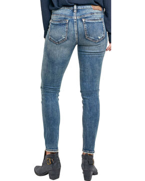Silver Women's Aiko Medium Wash Ankle Skinny Jeans, Indigo, hi-res