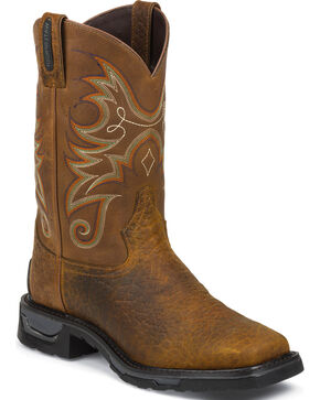 Tony Lama Men's TLX WP Western Work Boots, Brown, hi-res