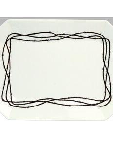 HiEnd Accents Barbwire Serving Platter, Cream, hi-res