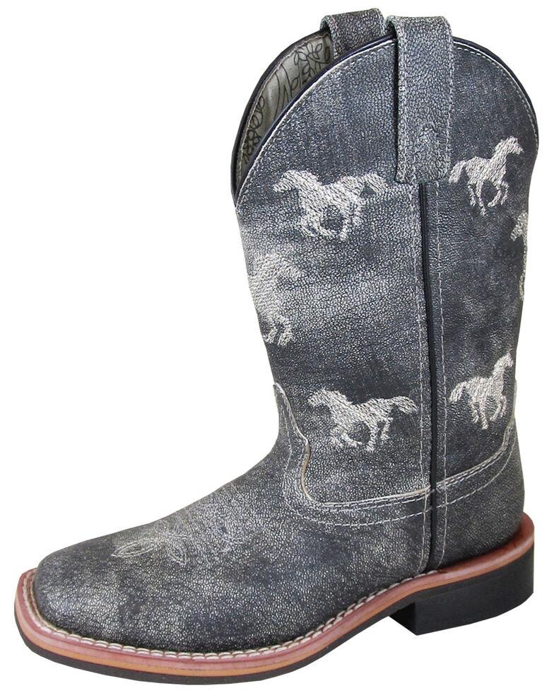 Smoky Mountain Boys' Rancher Western Boots - Square Toe, Grey, hi-res