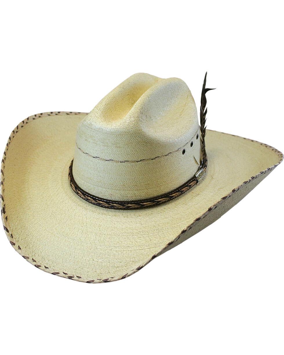 Larry Mahan Men's 30X Logan Palm Leaf Cowboy Hat , Natural, hi-res
