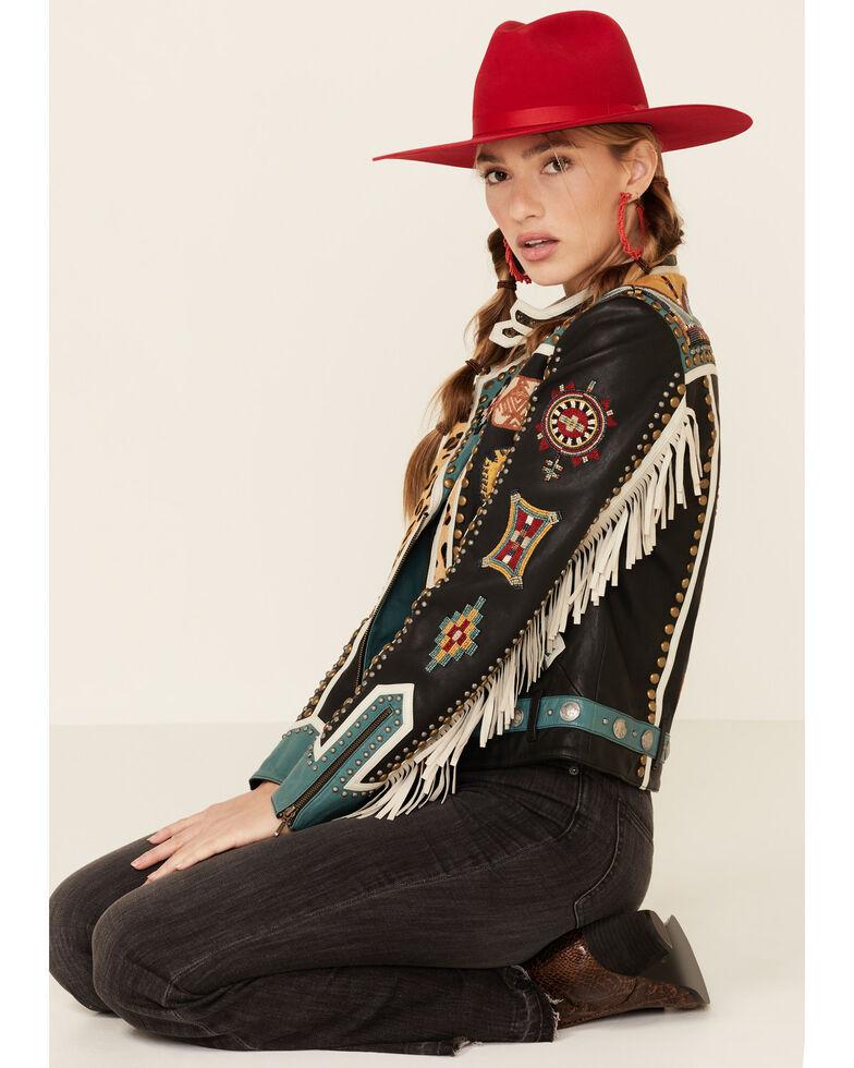 Double D Ranch Women's Last Comanche Chief Zip-Front Jacket , Black, hi-res