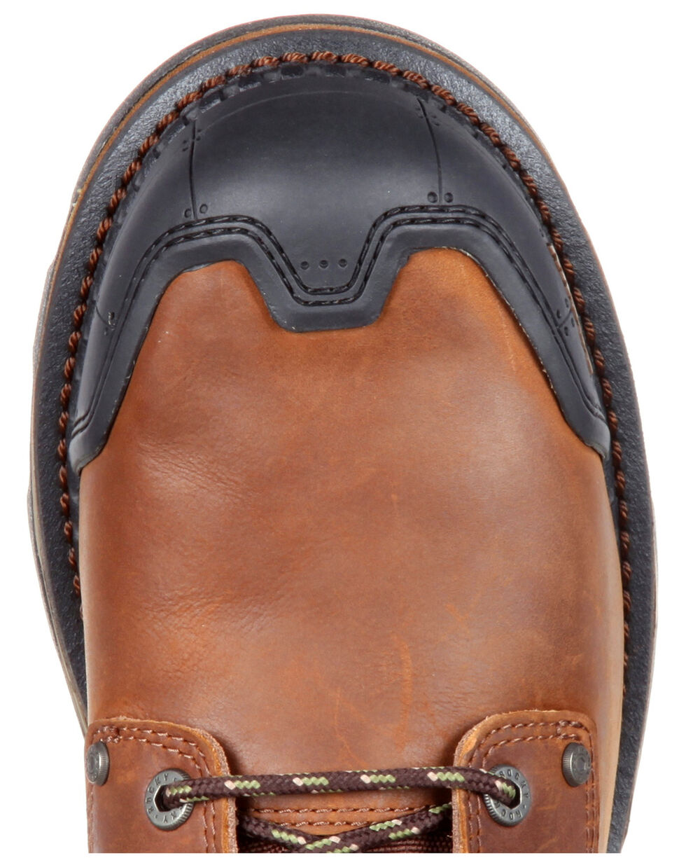 Rocky Men's Maxx Waterproof Outdoor Boots - Round Toe, Dark Brown, hi-res