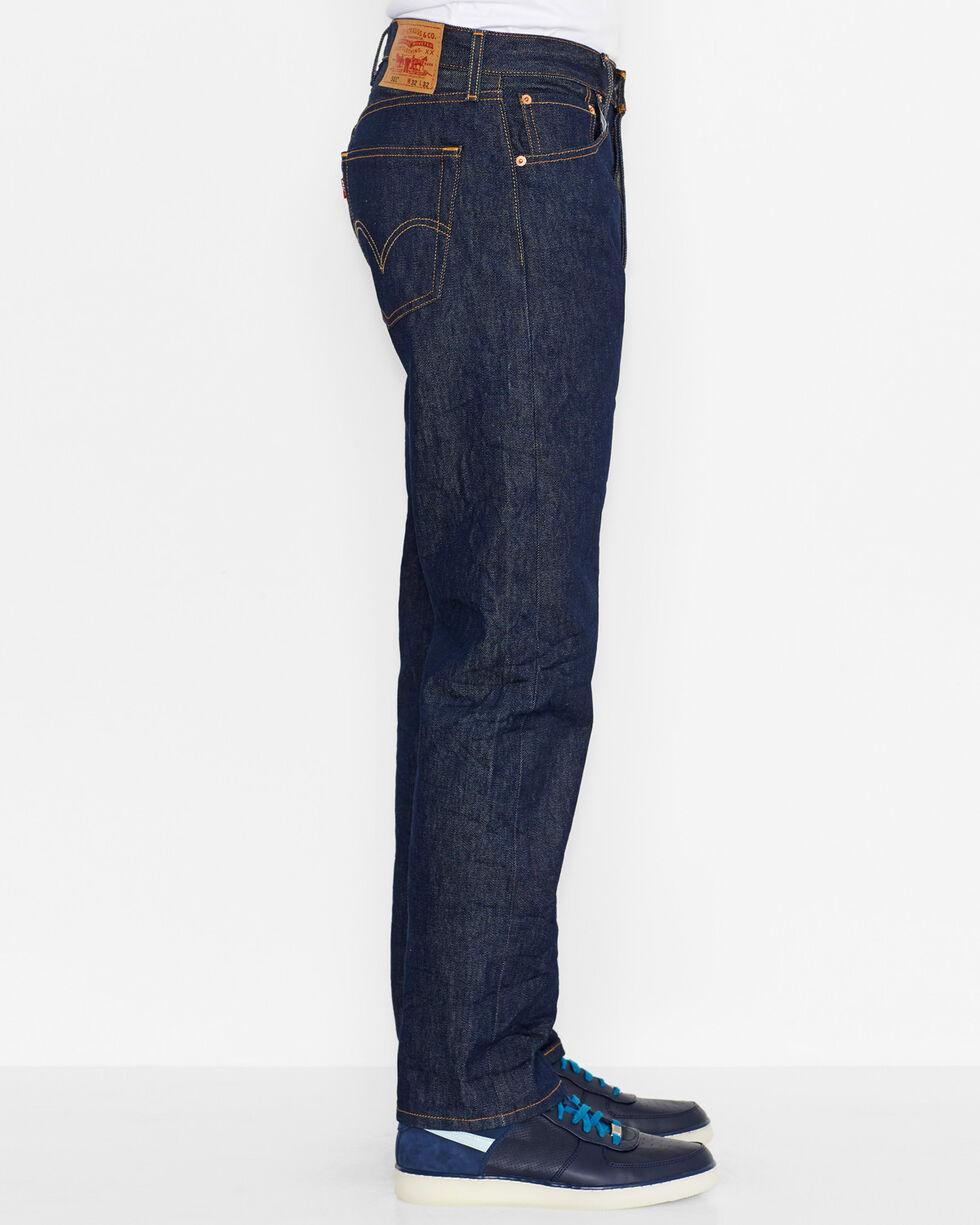 Levi's Men's 501® Original Shrink-to-fit Rigid Jeans, Indigo, hi-res