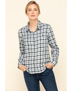 Dovetail Workwear Women's Plaid Givens Work Shirt , Indigo, hi-res