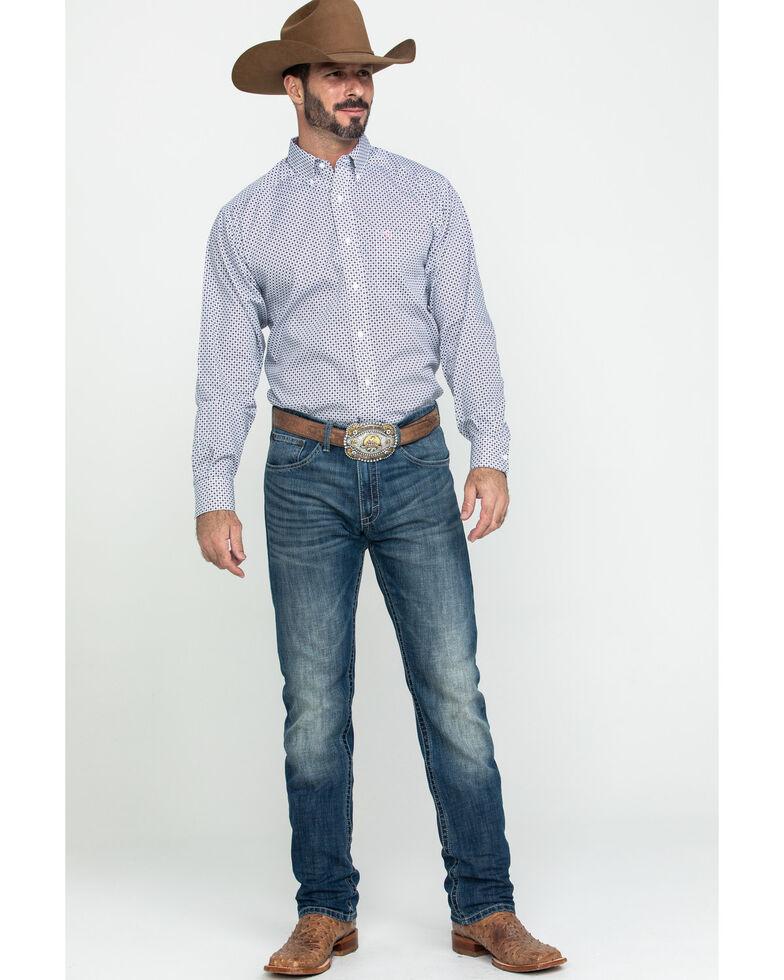 Ariat Men's Wrinkle Free Ilcott Geo Print Long Sleeve Western Shirt - Big , Multi, hi-res