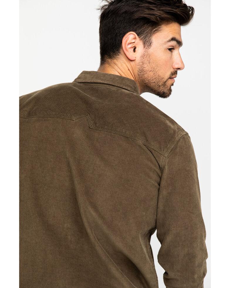 Moonshine Spirit Men's Chord Solid Fashion Long Sleeve Western Shirt , Tan, hi-res