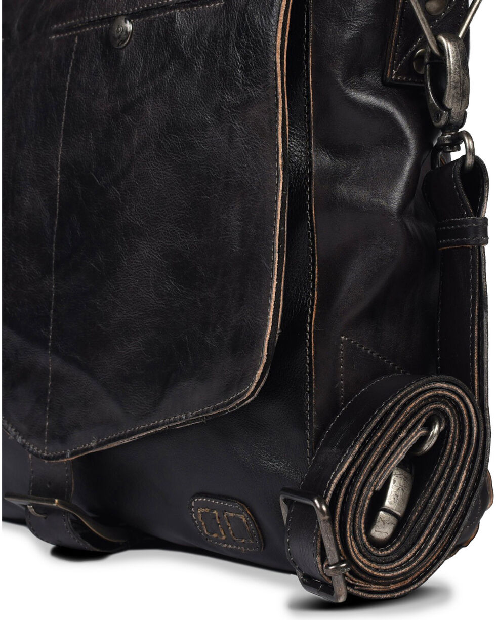 Bed Stu Men's Paulo Black Rustic Messenger Bag, Black, hi-res