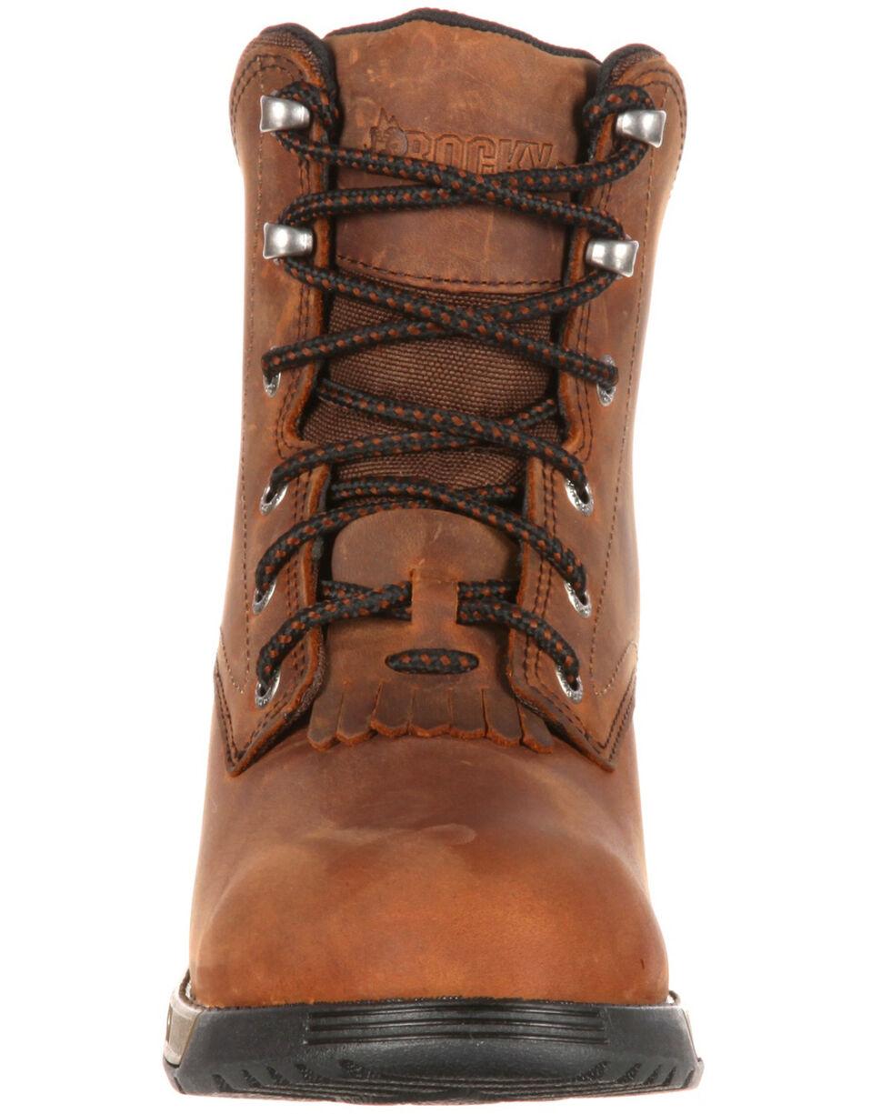 Rocky Women's Aztec Work Boots - Steel Toe, Brown, hi-res