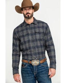 Ariat Men's Foggie Retro Snap Long Sleeve Flannel Shirt , Steel, hi-res