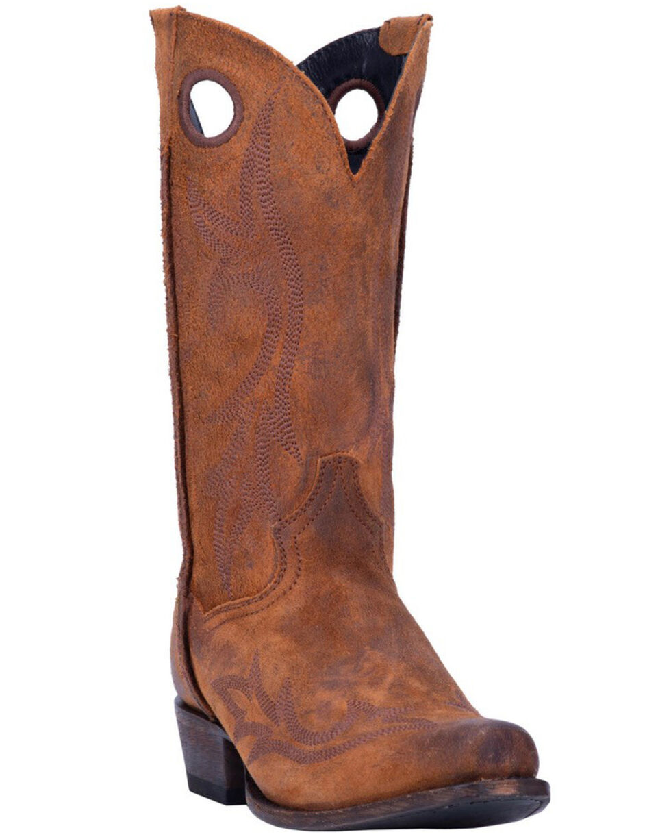Dan Post Men's Duke Western Boots - Narrow Square Toe, Cognac, hi-res