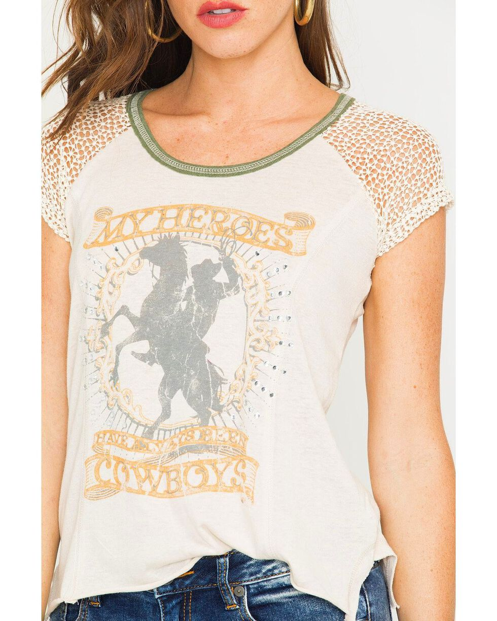 IOC Women's My Heroes Are Cowboys Tee, Ivory, hi-res