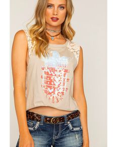 e563f2256 Shyanne Women's Sleeveless Lace Americana Raglan Top