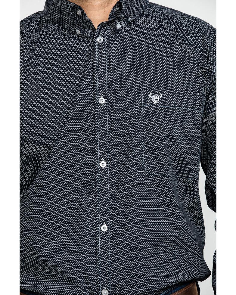 Cowboy Hardware Men's Zig Zag Print Long Sleeve Western Shirt , Black, hi-res