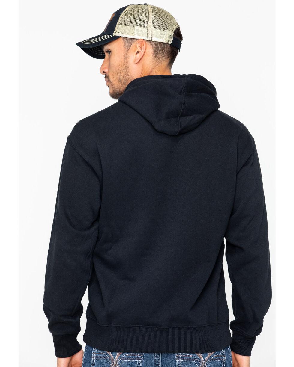 Ariat Men's Western Branded Hoodie, Black, hi-res