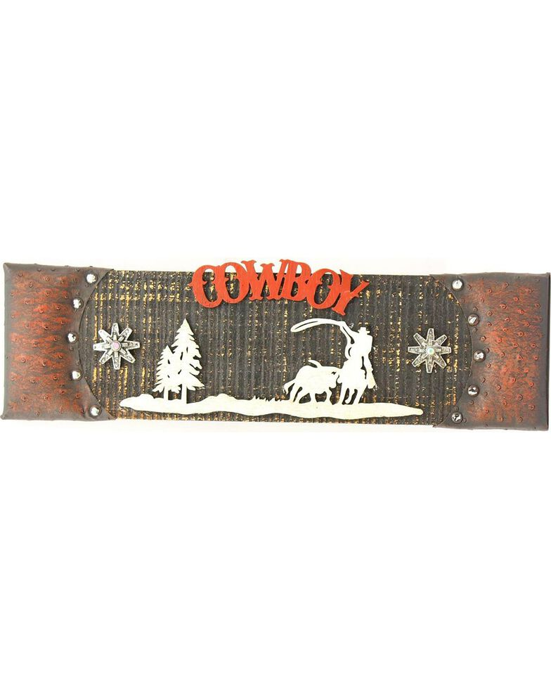 Western Moments Wooden Cowboy Sign, Brown, hi-res