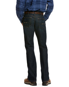 Ariat Men's Rebar M4 Blackstone Durastretch Basic Stackable Straight Work Jeans , Blue, hi-res