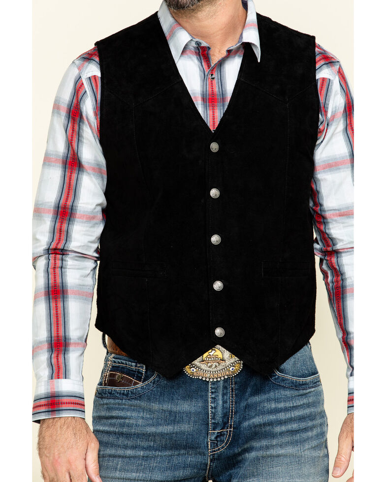 Cody James Men's Black Angus Suede Vest , Black, hi-res