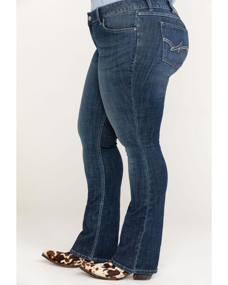 Wrangler Women's Dark Wash Bootcut Jeans - Plus, Indigo, hi-res