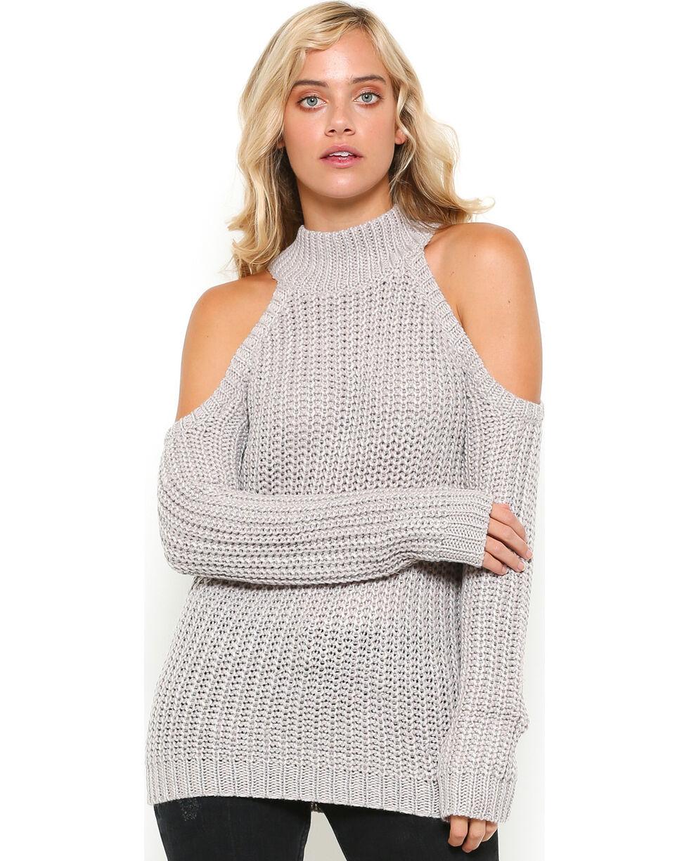 Illa Illa Women's Taupe Cold Shoulder Shoulder , Taupe, hi-res