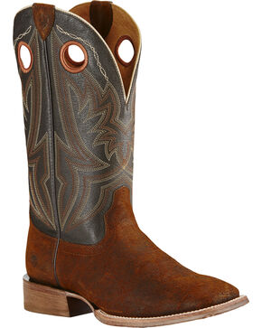 Ariat Men's Circuit Hazer Wide Square Toe Western Boots, Brown, hi-res