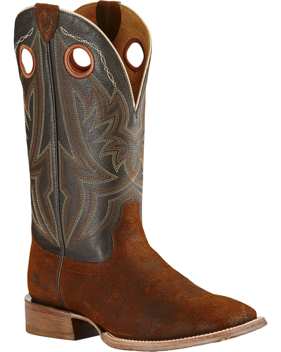 Ariat Men's Circuit Hazer Wide Square Toe Western Boots, Brown, hi-res