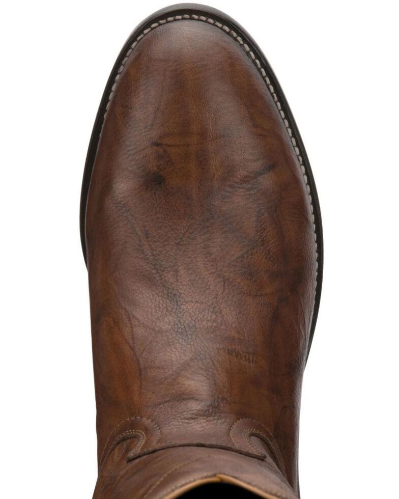 Justin Men's Deerlite Roper Western Boots, Chestnut, hi-res