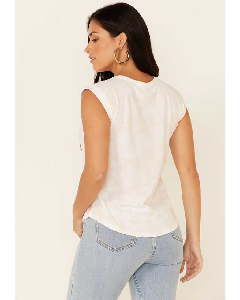 Shyanne Women's Cowboys & Hippies Graphic Rolled Short Sleeve Tee , White, hi-res