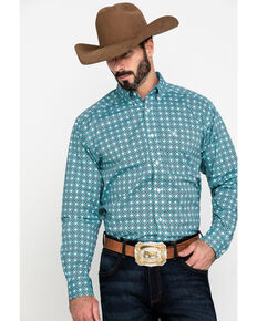 Ariat Men's Kerrington Stretch Geo Print Long Sleeve Western Shirt - Tall , Multi, hi-res
