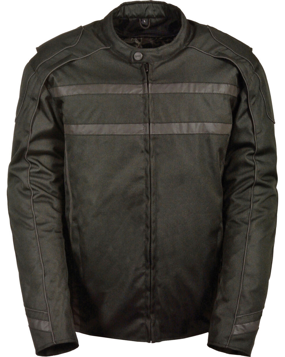 Milwaukee Leather Black Vented Reflective Jacket - Big 4X , Black, hi-res