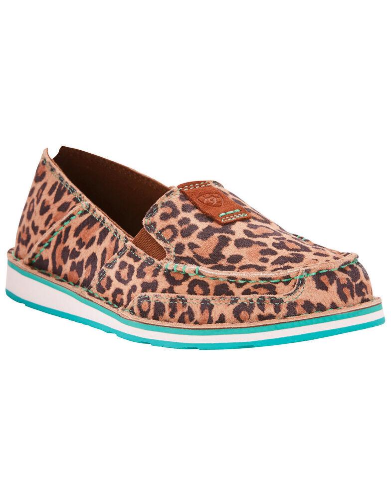 Ariat Women's Cheetah Print Cruiser Slip On Shoes - Moc Toe, Cheetah, hi-res