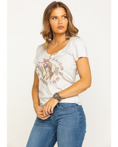 Idyllwind Women's Hell Raisin' Notched Trustie Tee, Heather Grey, hi-res