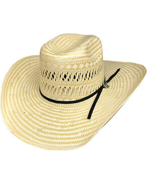 Bullhide Men's Short Round 50X Straw Cowboy Hat, Tan, hi-res
