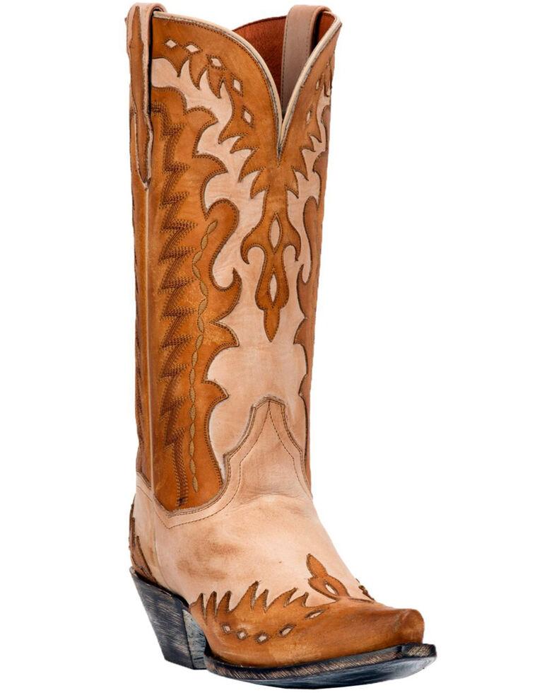 Dan Post Women's Bone Mae Wingtip Cowgirl Boots - Snip Toe, Tan, hi-res