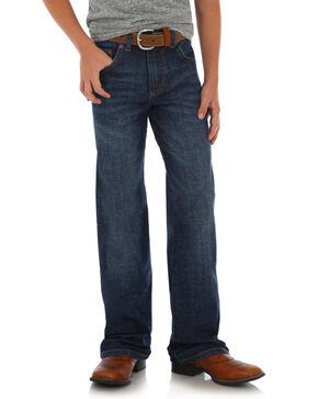 Wrangler Retro Boys' Dark Relaxed Straight Jeans - Reg/Slim, Dark Blue, hi-res