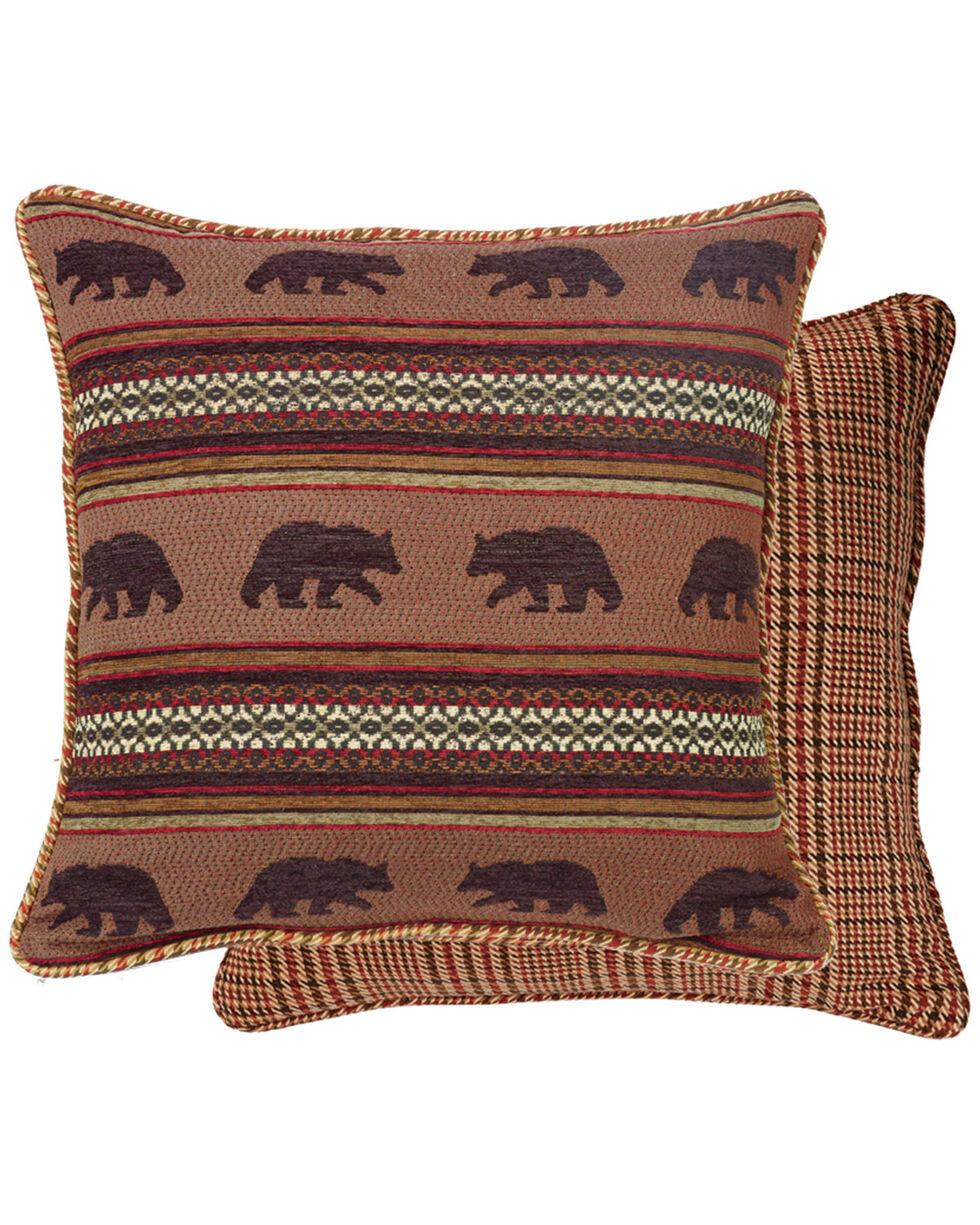 HiEnd Accents Bayfield Houndstooth Bear Euro Sham, Multi, hi-res