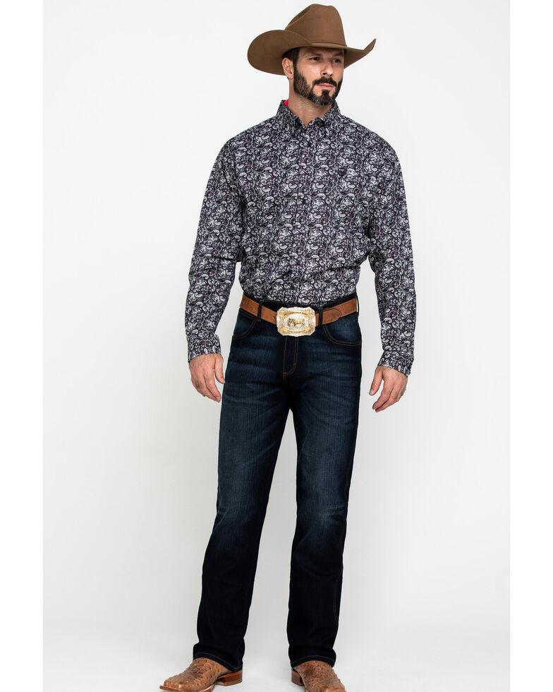 Cinch Men's Multi Paisley Print Weave Long Sleeve Western Shirt , Multi, hi-res