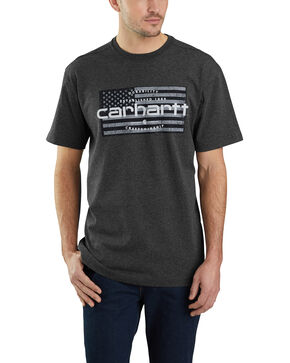 Carhartt Men's Craftsmanship Flag Graphic Work T-Shirt - Big, , hi-res