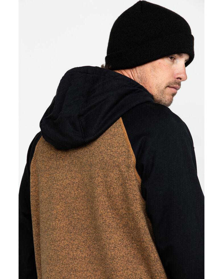 Wrangler Men's Flame Resistant Contrast Hooded Work Sweatshirt  , Brown, hi-res