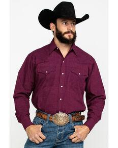 Ely Cattleman Men's Assorted Multi Mini Check Plaid Long Sleeve Western Shirt , Multi, hi-res