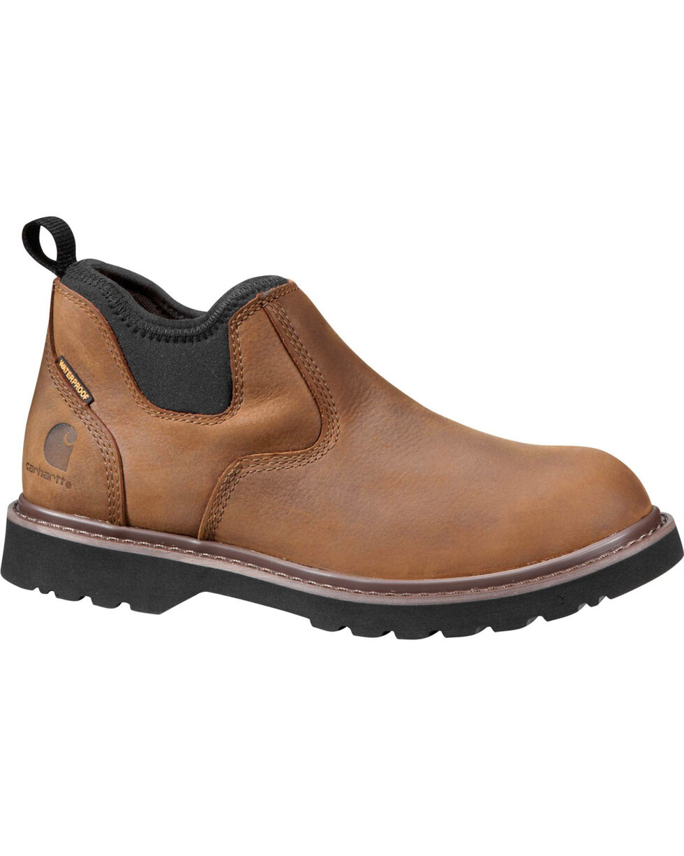 "Carhartt Women's 4"" Bison Brown Romeo Waterproof Shoes - Round Toe, Chocolate, hi-res"