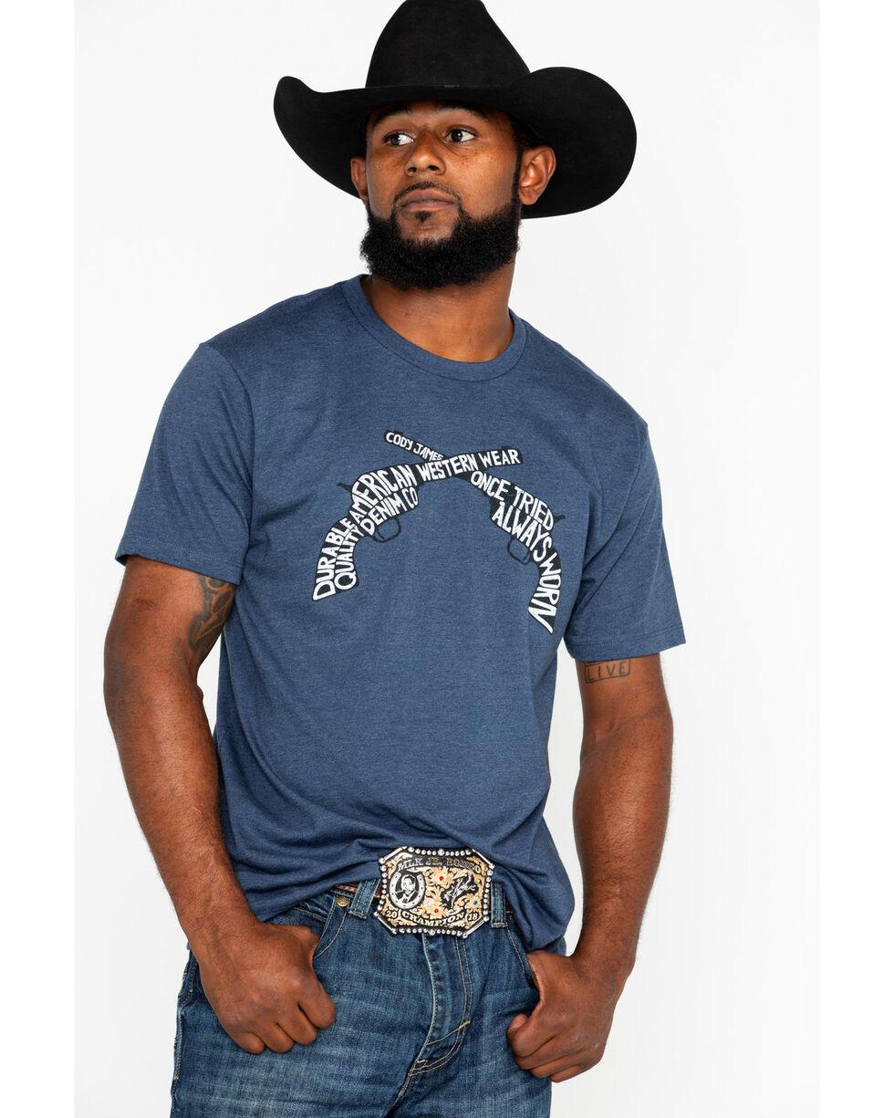 Cody James Men's Revolvers Graphic Print T-Shirt , Burgundy, hi-res