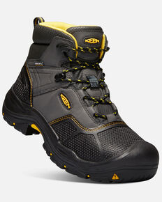 Keen Men's Logandale Waterproof Work Boots - Soft Toe, Black, hi-res